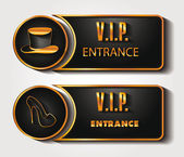 VIP ENTRANCE SIGNS — Stock Vector