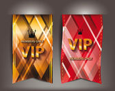 Vip textile labels — Stock Vector