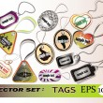 Tags vector set — Stock Vector #9885613