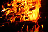 Flames background,fire, camp-fire — Stock Photo