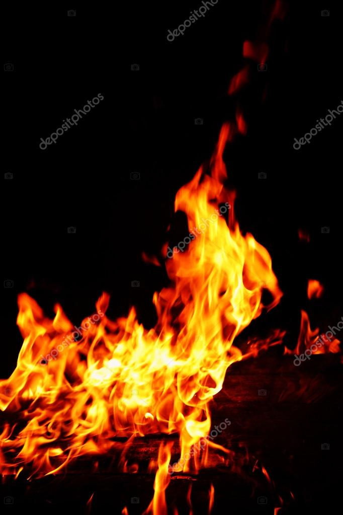 Flames background,fire, camp-fire — Stock Photo #12430844