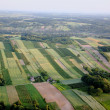 Aerial view of village landscape , Aerial photo of countryside — Stock Photo #13592007