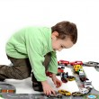 Young Boy Playing With Toy - Foto de Stock