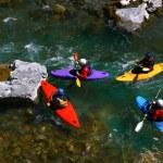 Kayaker in white water — Stock Photo #18248103