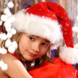 Happy girl at Christmas time — Stock Photo #18766707