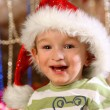 Happy boy at Christmas time — Stock Photo