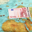 World money , World map , Money transfer — Stock Photo
