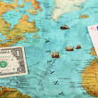 World money , World map , Money transfer — Stock Photo #22339055