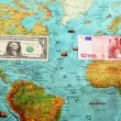 World money , World map , Money transfer — Stock Photo #22339115