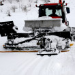 Stock Photo: Ski resort, ratrak , snowblower