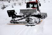 Ski resort, ratrak , snowblower — Foto Stock