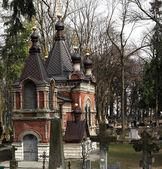 Orthodox Church on cemetery — Stock Photo