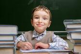 Dítě ve škole — Stock fotografie