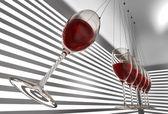 ワイングラスのニュートンのゆりかご — ストック写真