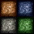Abstract grunge background in four different colors — Stock Photo