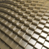 Abstract Golden 3D Blocks Background — Stock Photo