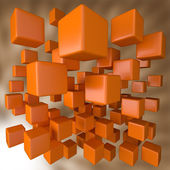 Abstract 3D Orange Blocks Background — Stock Photo