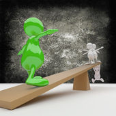 3d-man evenwicht — Stockfoto