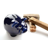 Piggy Moneybox With Sledge Hammer — Stock Photo