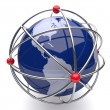 Planet Earth in Atom Cage America - Stock Photo