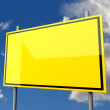 Stock Photo: Road Sign Big Yellow Blank