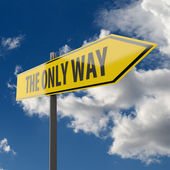 Road Sign with words The Only Way — Stock Photo