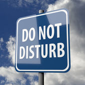 Road sign blue with words Do Not Disturb — Stock Photo