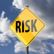 Road sign Yellow with word Risk — Stock Photo