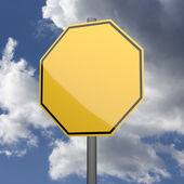 Road sign Yellow Blank — Stock Photo