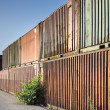 Old shipping containers — Stock Photo