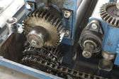 Máquina de produção de close-up — Foto Stock