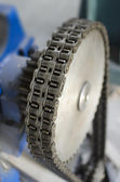 Gear and chain — Stock Photo