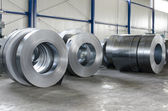 Sheet tin metal rolls — ストック写真