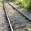 Railroad tracks close up concept — Stok fotoğraf