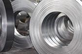 Rollos de hoja de metal de la lata — Foto de Stock
