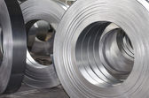 Sheet metal tin rolls — Stock Photo