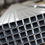 Sheet metal profiles close up — Stock Photo #33140699