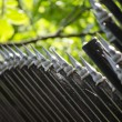 Metal fence close up — ストック写真