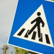 Pedestrian crossing sign close up — Stock Photo