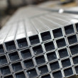 Stock Photo: Sheet metal profiles close up
