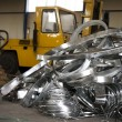 Foto Stock: Sheet metal scrap