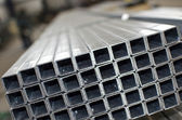 Sheet metal profiles close up — Stok fotoğraf