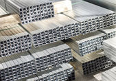 Sheet metal profiles — 图库照片