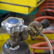 Gas tank valve close up — Stock Photo