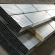 Stock Photo: Sheet metal profiles in production hall