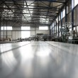 Stock Photo: Sheet tin metal production hall