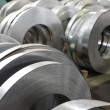 Stock Photo: Sheet tin metal rolls