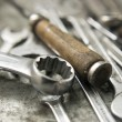 Stock Photo: Working tools on workbench