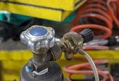 Gas tank ventiel close-up — Stockfoto