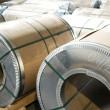 Stock Photo: Sheet metal rolls in production hall